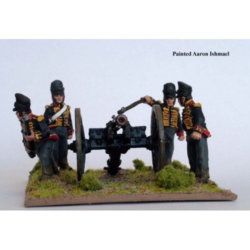 Hanoverian Foot Artillery firing 6 pdr (crew figures as above)