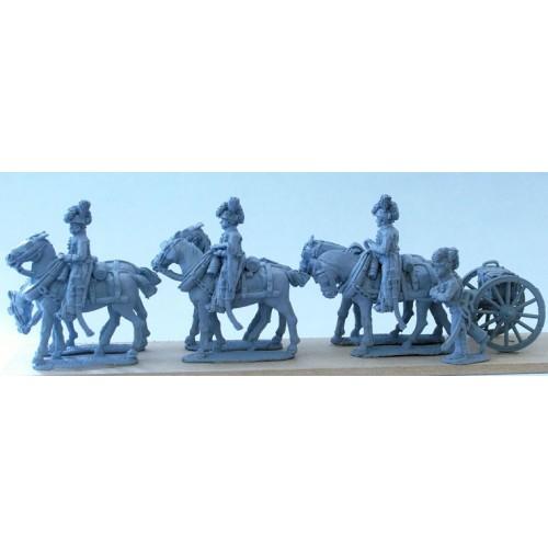 Royal Horse Artillery 6 horse limber team standing without gun (includes gunner serving limber)