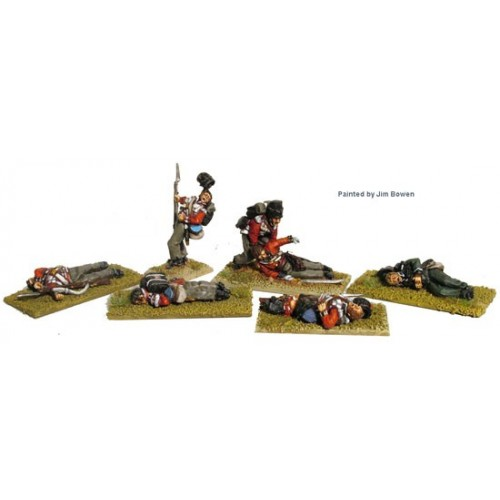 British infantry casualties ( includes line