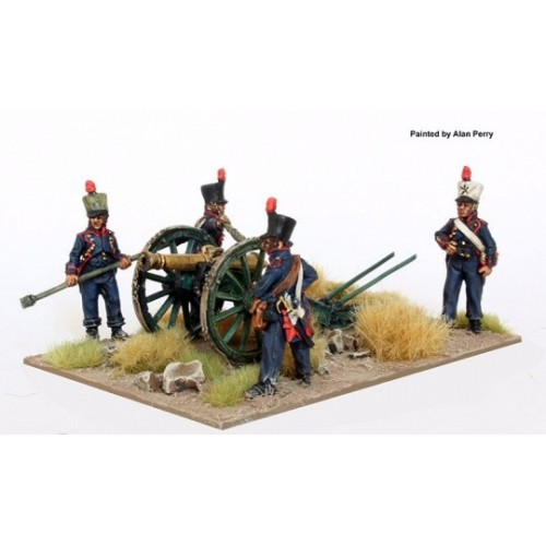 French Foot Artillery firing 8 pdr