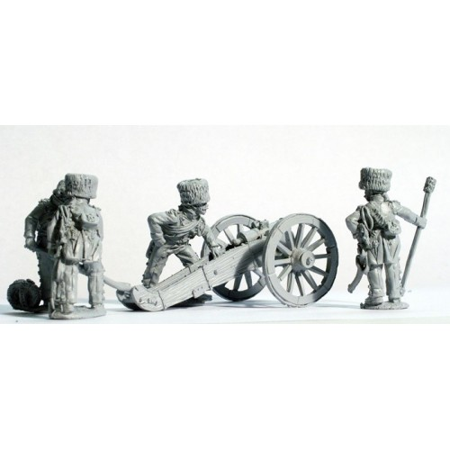 Guard Horse Artillery laying 5.5 in. Howitzer