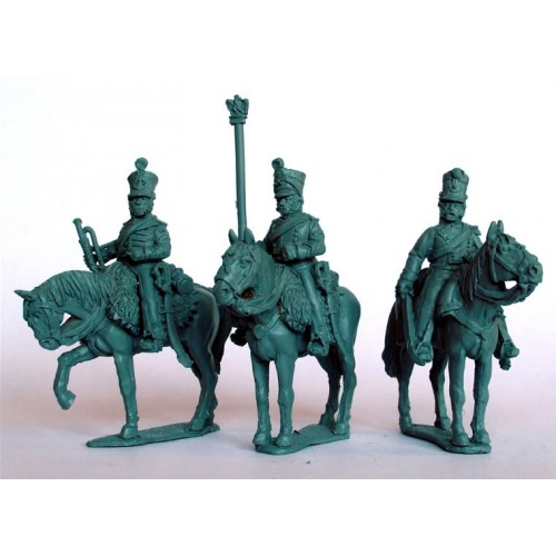 Chasseurs a Cheval  command on standing horses