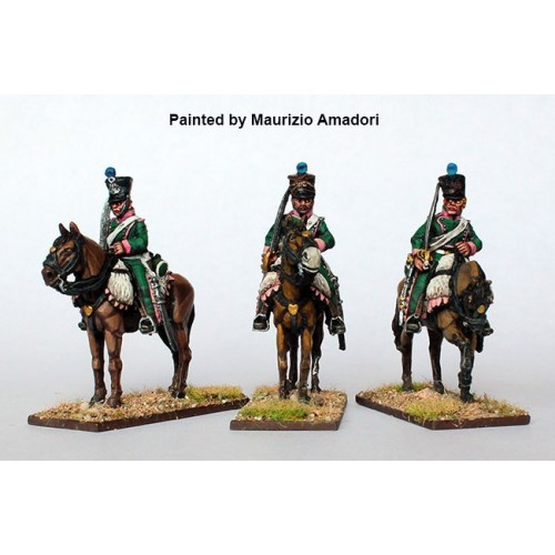 Chasseurs a Cheval  on standing horses