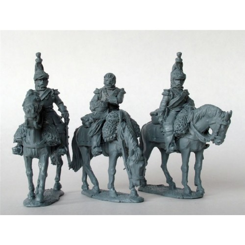Cuirassiers on standing horses in reserve