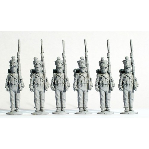Line Fusiliers standing at attention