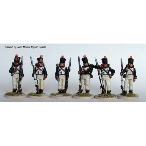 Line Fusiliers standing at ease