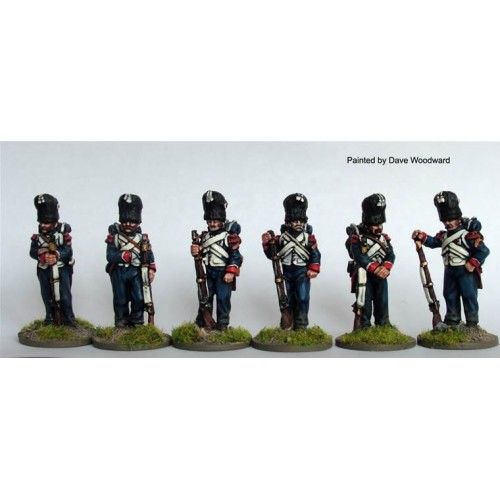Chasseurs a Pied of the Imperial Guard standing casually  A
