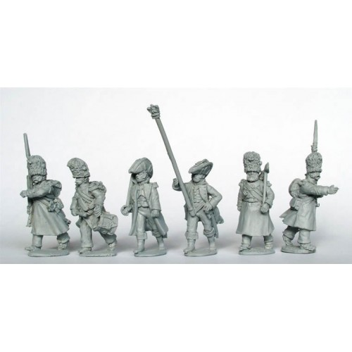 Chasseurs a Pied of the Imperial Guard Command in greatcoats