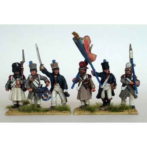 Line Regimental Infantry command in greatcoats