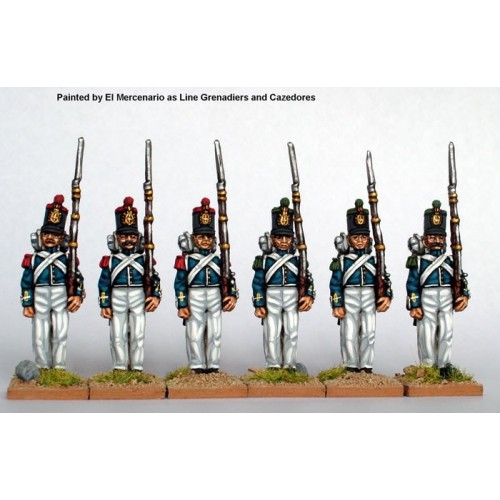 Infantry standing at attention flank companies