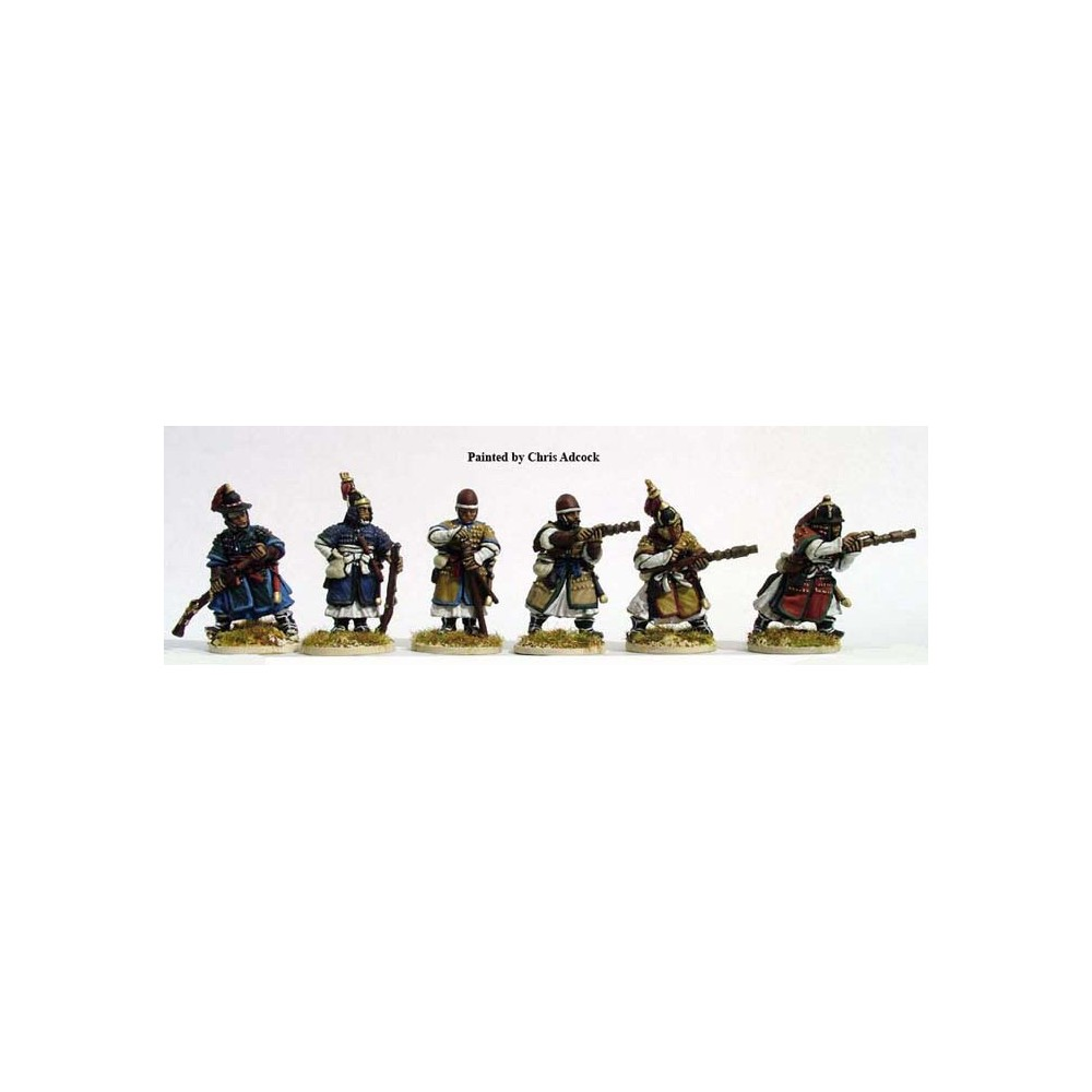 Armoured Infantry with Chong Tong/ Arquebus firing/loading