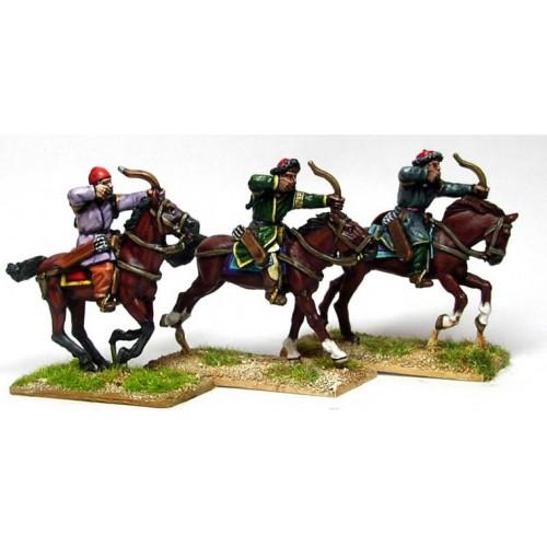 Saljuq Turk horse archers shooting