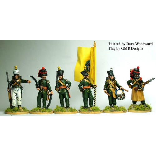 1st Nassau-Usingen regTÉ command standing