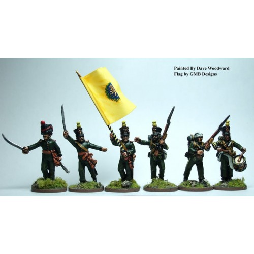 2nd Nassau-Usingen regTÉ command advancing