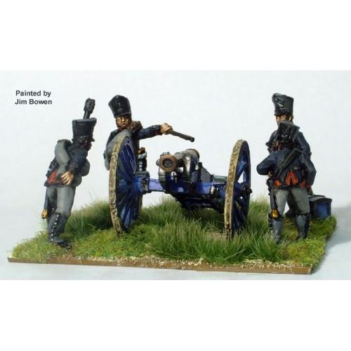 Foot Artillery firing 6pdr