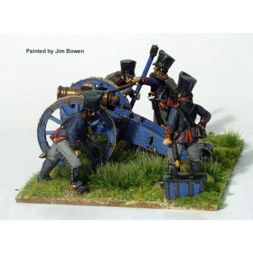Foot Artillery firing 7 inch Howitzer