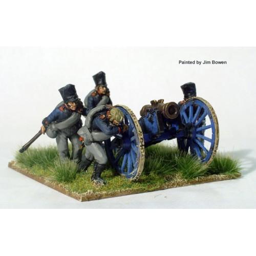 Foot Artillery running up 7 inch Howitzer