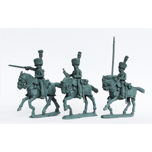 Horse Grenadiers of Fernando VII, command galloping (colpacks)
