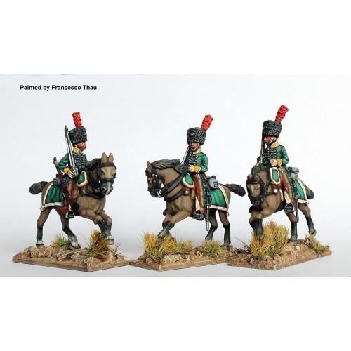 Horse Grenadiers of Fernando VII galloping, swords shouldered (colpacks)