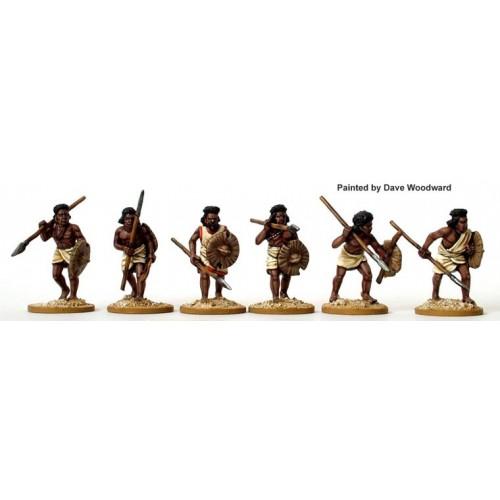 Beja (Fuzzy Wuzzies) spearmen advancing