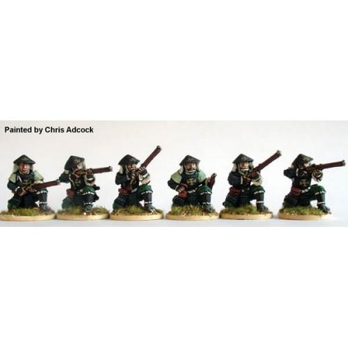Ashigaru Arquebusier firing line