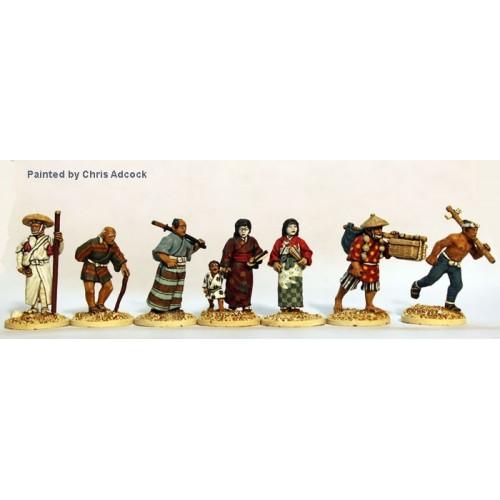 Town People (7 figures + 1 kid )