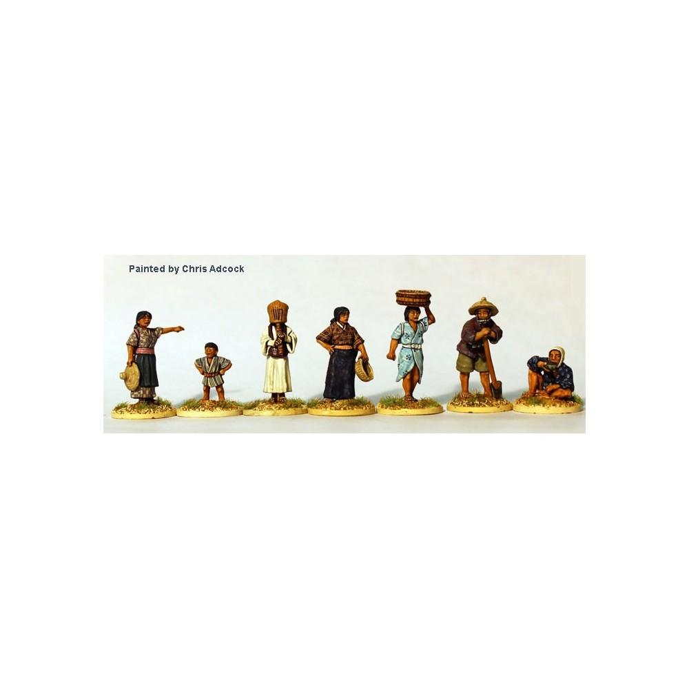 Villagers ( 7 figures +1 kid )