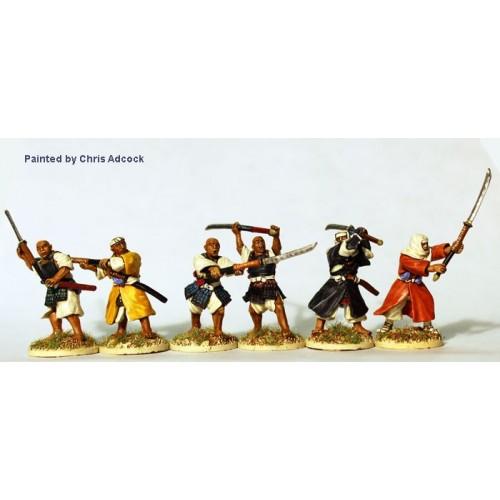 Armed Monks attacking with naginata
