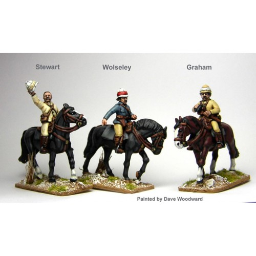 British High Command on English mounts