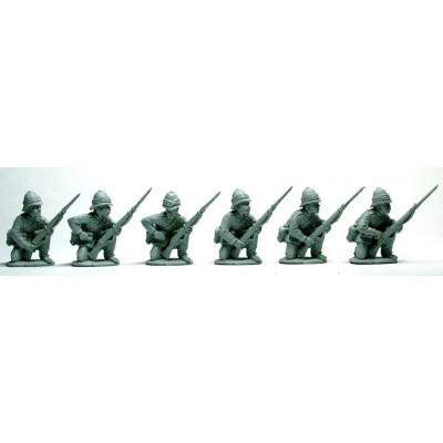 British Infantry kneeling receiving/loading