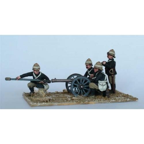 7 pounder Screw-gun and crew