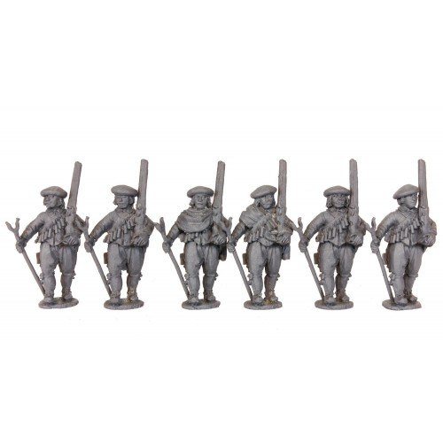 Early Musketeers/Militia marching with rest