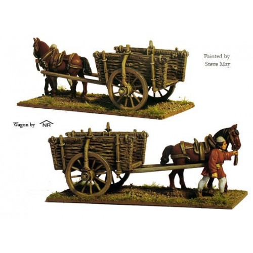 Wicker sided cart