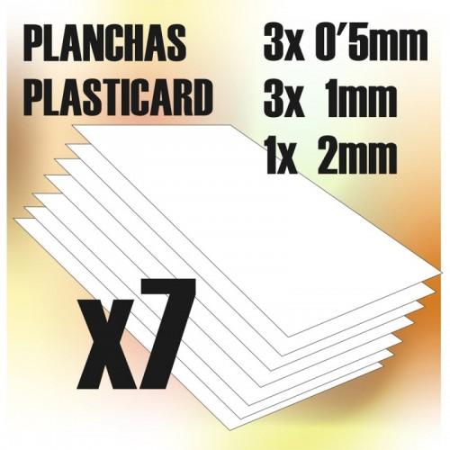 Plancha Plasticard COMBO-MIX 7 planchas