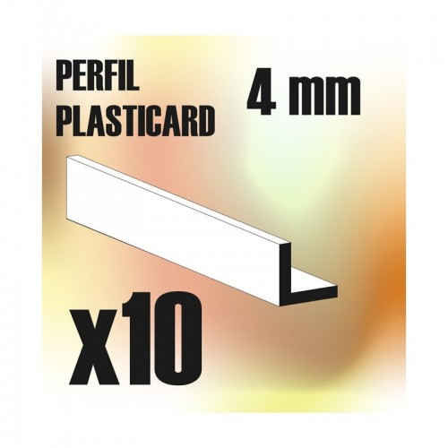 Perfil Plasticard ANGULO-L 4mm