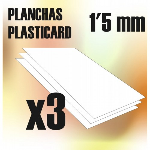 Plancha Plasticard 1'5 mm - COMBOx3 planchas