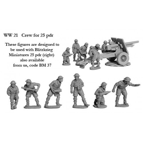 Crew for 25pdr