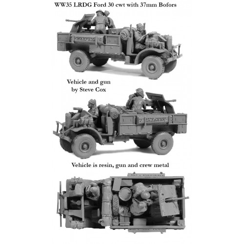 LRDG Ford 30cwt with Bofors AT