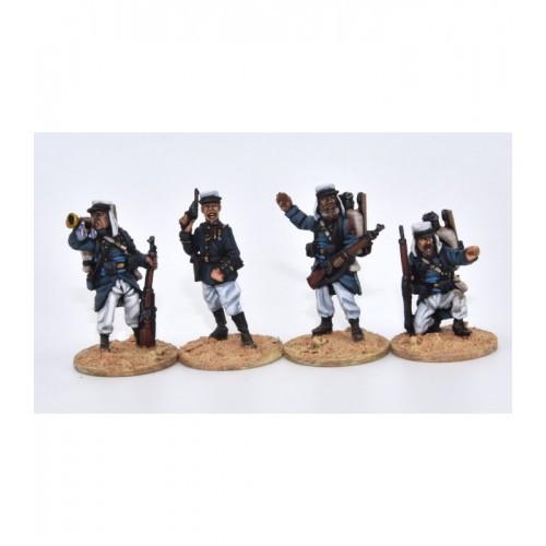 Grupo de mando en combate, orden de marcha (mochilas)