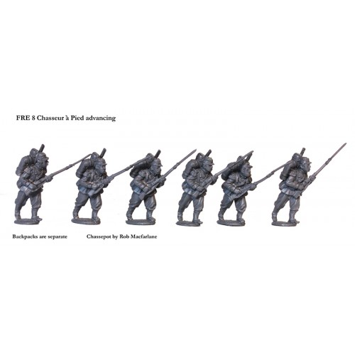 French Chasseurs a Pied advancing