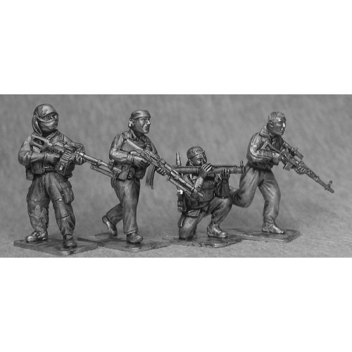 Insurgents with support weapons