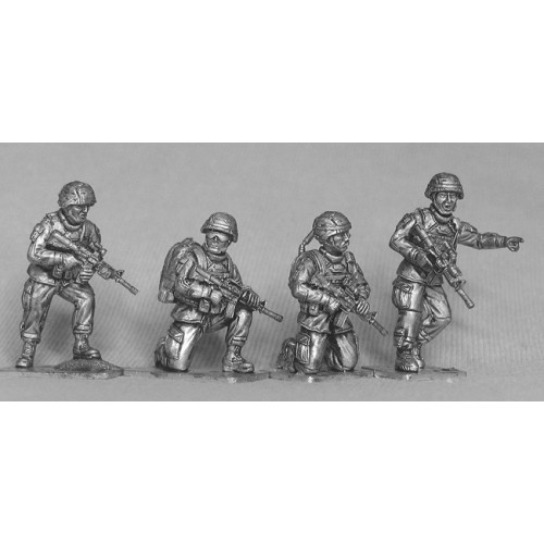 Four US infantry command group. Includes radioman and medic.