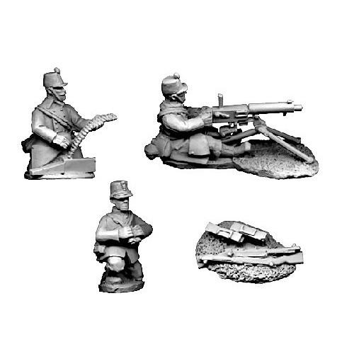Belgian Maxim Gun Crew in Shakos