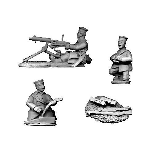 Belgian Maxim Gun Crew in Grenadier Caps