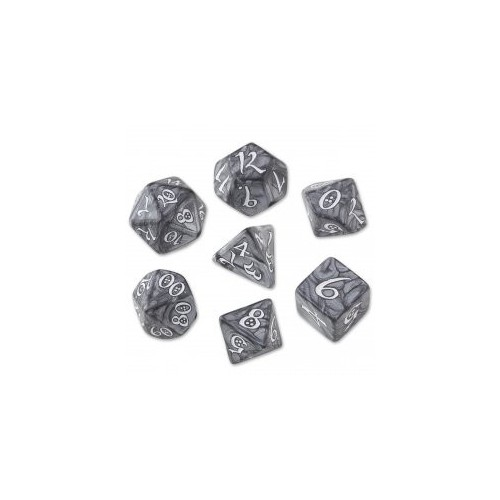 Smoky/White Classic RPG Dice Set (7)