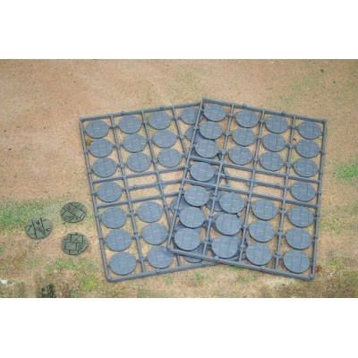 25mm Diameter Paved Effect Bases