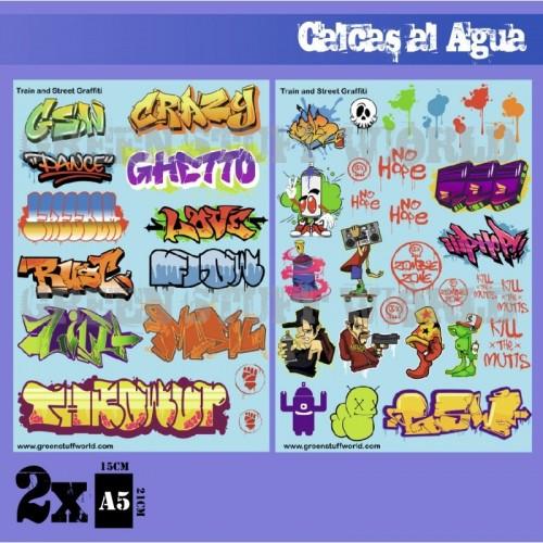 Calcas al agua - Mix Graffitis