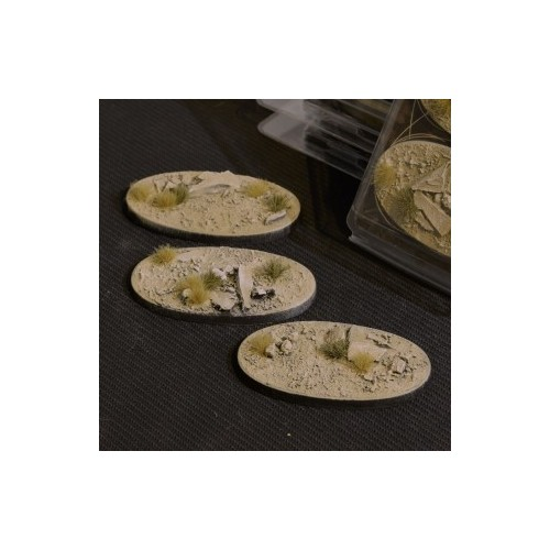 Arid Steppe Bases Oval 75mm (x3)