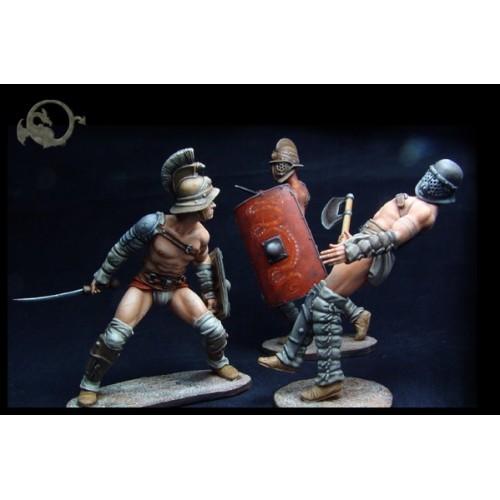 Roman Gladiators (3 figures)