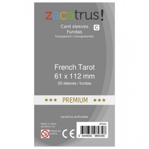 Fundas Zacatrus French Tarot premium (61x112mm)